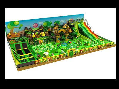 森林風淘氣堡模型3d模型