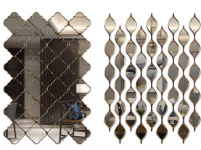 現代簡約裝飾鏡模型3d模型