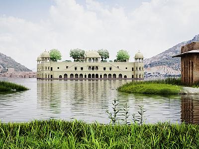 3d國外城堡園林景觀模型