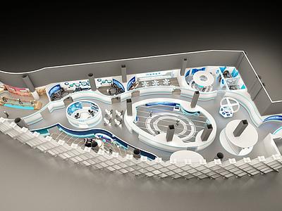 3d現代科技館模型