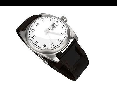 黑色手表模型3d模型