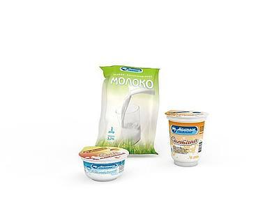 3d進口牛奶免費模型