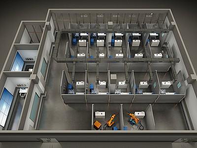 電焊實操教室模型3d模型