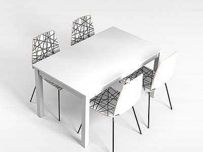 3d白色塑料椅模型