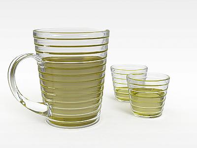 3d大麥茶模型