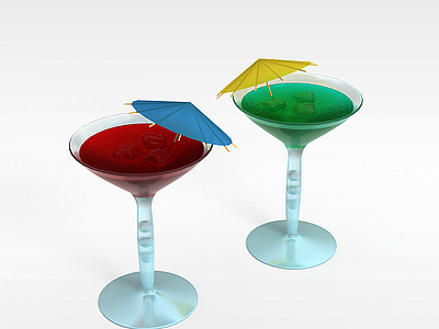 3d雞尾酒模型