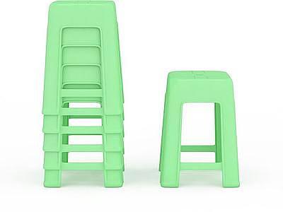 3d塑料凳子免費模型