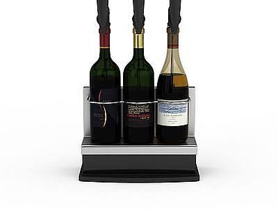 高級紅酒模型
