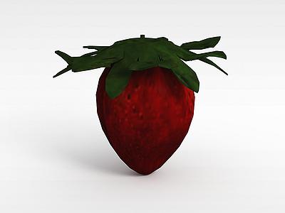 3d草莓模型