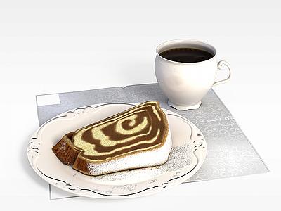 3d咖啡蛋糕模型