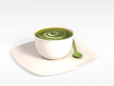 3d花式咖啡模型