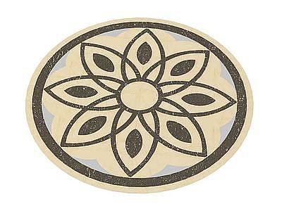 圓形裝飾地磚模型