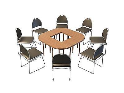培訓桌椅模型