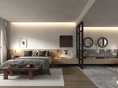 自然風民宿客房模型3d模型