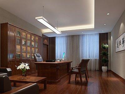 經理室老總室辦公室模型3d模型