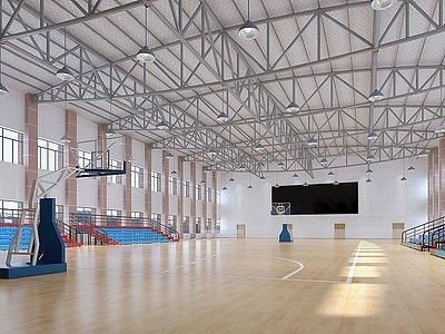 體育館室內籃球場模型3d模型