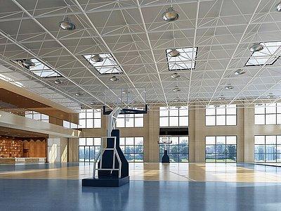 籃球場體育館模型3d模型