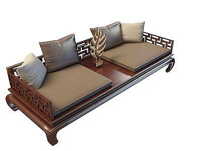 中式羅漢床模型