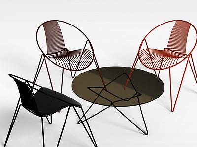 3d簡約塑料椅模型