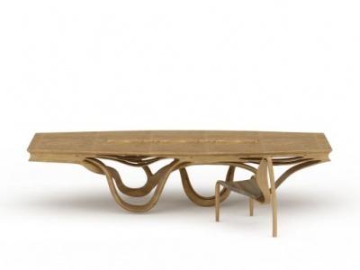 3d創意木桌椅免費模型
