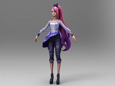 C4D游戲人物3d模型