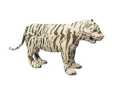 C4D3d白虎免費模型模型