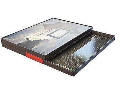 3d筆記本電腦包裝模型
