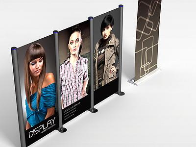 3d商場廣告牌模型