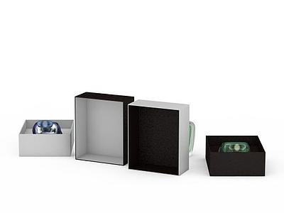3d白色包裝盒香水免費模型