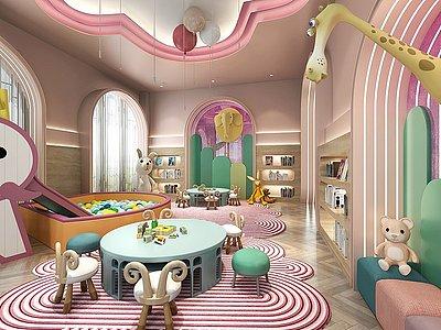 兒童圖書游樂區模型3d模型