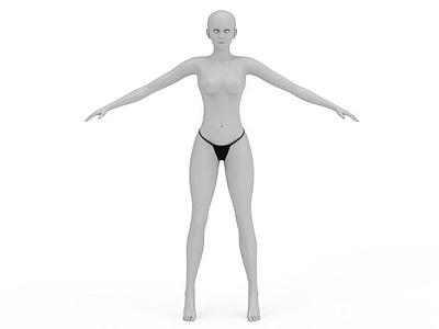 3d塑料女模特免費模型