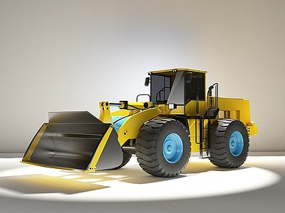 3d工程推土機模型