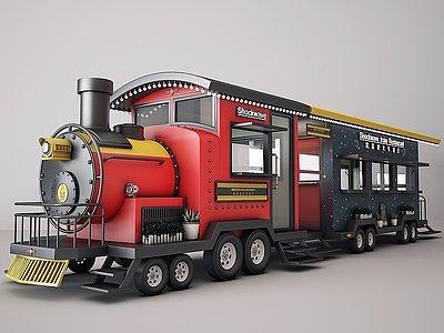 3d快餐車模型