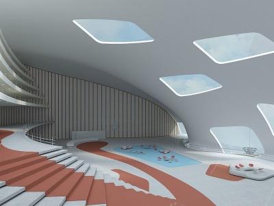 展示大廳模型3d模型