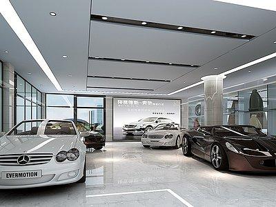 3d汽車展廳模型