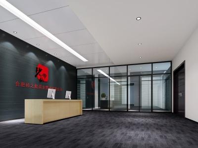 現代簡約辦公門廳模型3d模型