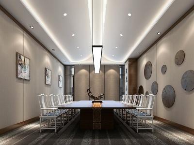 新中式小會議室模型3d模型