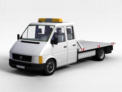 3d交通警車模型