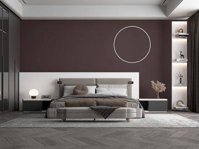 現代臥室主人房模型3d模型