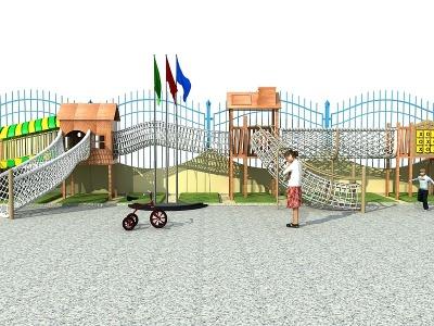 兒童游樂設施滑梯3d模型