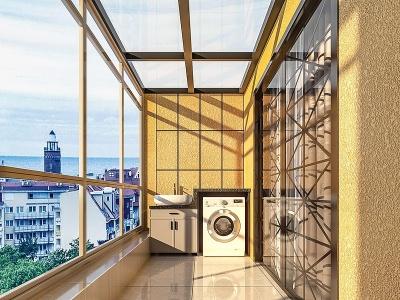 陽臺洗衣機柜模型3d模型