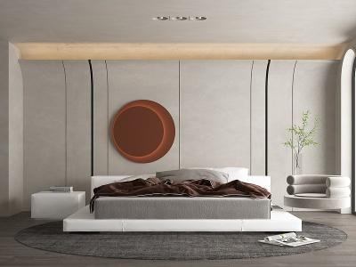 現代輕奢主臥室模型3d模型