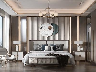 歐式臥室模型3d模型