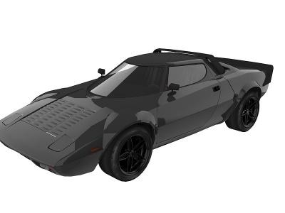現代黑色汽車模型3d模型