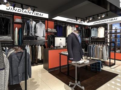 現代服裝店模型
