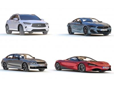 3d現代轎車跑車SUV模型