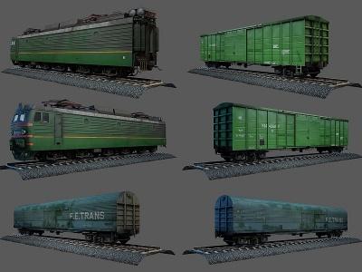 3d<font class='myIsRed'>火車</font>模型