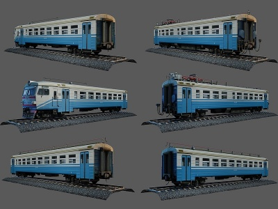 3d現代<font class='myIsRed'>火車</font>模型