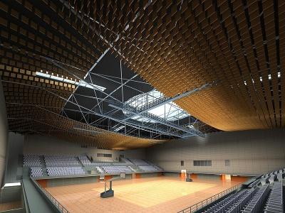 體育場模型3d模型