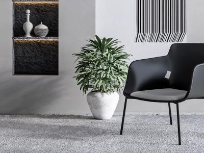 現代單椅植物軟裝組合模型3d模型